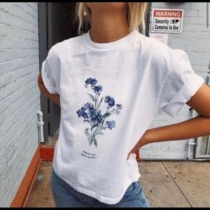 Brandy Melville Aleena Forget Me Not Graphic Tee